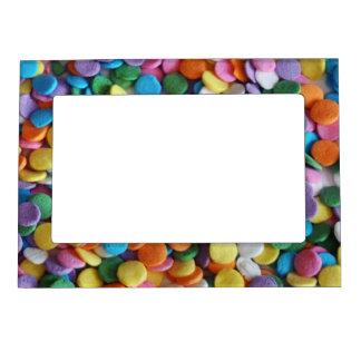 Puntos del caramelo marcos magnéticos para fotos