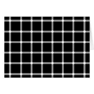 Puntos del centelleo - ilusión óptica felicitación