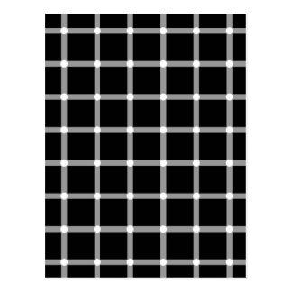 Puntos del centelleo - ilusión óptica tarjetas postales