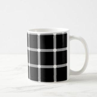 Puntos del centelleo - ilusión óptica taza clásica