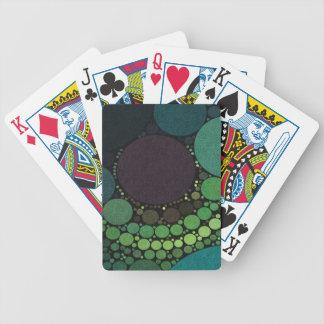 Puntos del extracto del tono de la tierra baraja de cartas