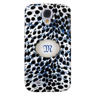 Puntos del guepardo de PixDezines/color de fondo Funda Para Galaxy S4