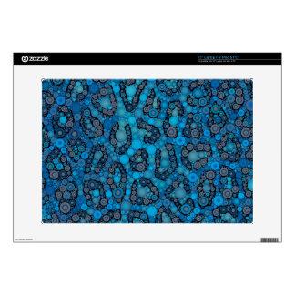 Puntos del guepardo del negro de azules cielos portátil 38,1cm skin