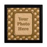 Puntos del hoyuelo - mantequilla de cacahuete del  cajas de recuerdo