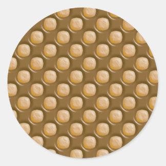 Puntos del hoyuelo - mantequilla de cacahuete del etiqueta redonda