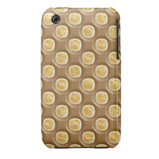 Puntos del hoyuelo - melcocha del chocolate funda para iPhone 3