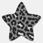 Puntos del leopardo del tigre 80s de Corey Calcomanias Forma De Estrella
