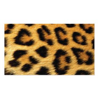 Puntos del leopardo tarjetas de visita