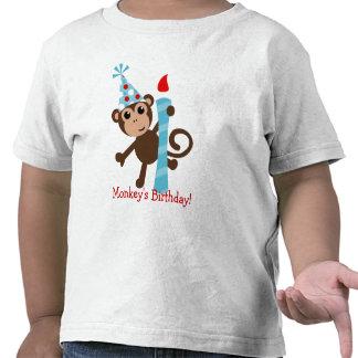 Puntos del mono camiseta