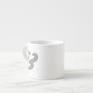 Puntos del negro del itálico intrépido del taza espresso