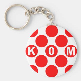 Puntos del rojo de KOM Llaveros Personalizados