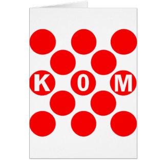 Puntos del rojo de KOM Tarjeta De Felicitación