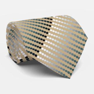 Puntos del satén - de color topo y gris del estaño corbata