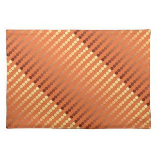 Puntos del satén - moho y oro manteles individuales