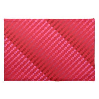 Puntos del satén - sombras de color rojo oscuro mantel