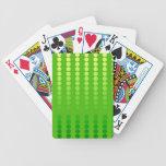 Puntos del satén - sombras de la verde lima baraja cartas de poker