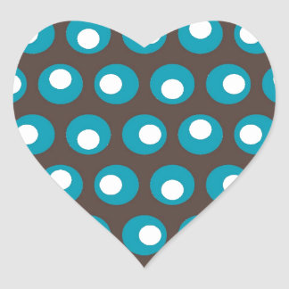 Puntos del trullo pegatina en forma de corazón