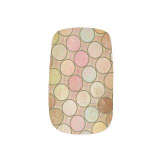 Puntos del verano pegatinas para manicura