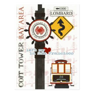 Puntos del viaje de San Francisco Tarjeta Postal