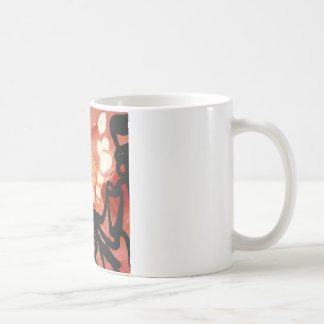 puntos derretidos engranaje maravilloso rojo abstr tazas de café