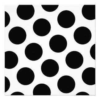 Puntos diagonales negros grandes comunicado personalizado