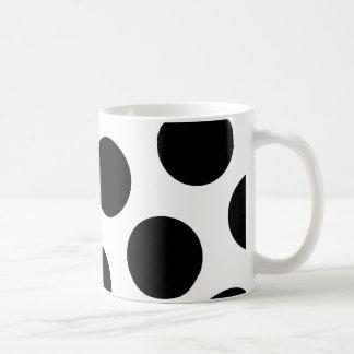 Puntos diagonales negros grandes taza