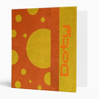 """Puntos dispersados amarillo en textura de cuero carpeta 1"""""""
