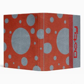 """Puntos dispersados gris en textura de cuero roja carpeta 1"""""""