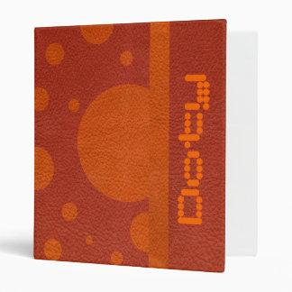 "Puntos dispersados mandarina en la textura de carpeta 1"""