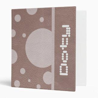 """Puntos dispersados PalePink en textura de cuero de Carpeta 1"""""""