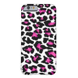Puntos/diybackground del leopardo de PixDezines Funda De iPhone 6 Barely There