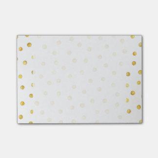 Puntos elegantes del confeti de la hoja de oro notas post-it®