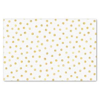 Puntos elegantes del confeti de la hoja de oro papel de seda pequeño
