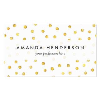 Puntos elegantes del confeti de la hoja de oro tarjetas de visita