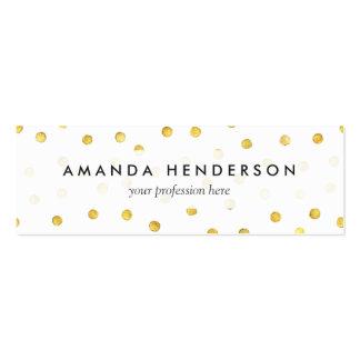 Puntos elegantes del confeti de la hoja de oro tarjetas de visita mini