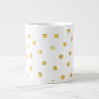 Puntos elegantes del confeti de la hoja de oro taza grande