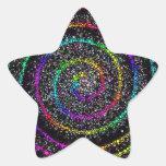 Puntos espirales calcomanías forma de estrella