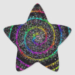 Puntos espirales calcomanias forma de estrella
