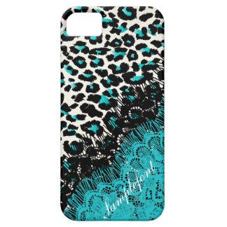 Puntos falso del leopardo de PixDezines cordón iPhone 5 Carcasas