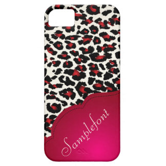 Puntos/falso del leopardo de PixDezines cordón iPhone 5 Carcasas
