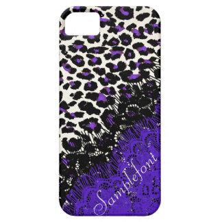 Puntos/falso del leopardo de PixDezines cordón iPhone 5 Funda