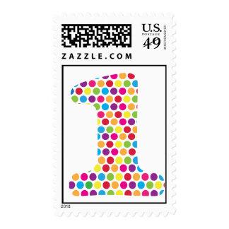 Puntos felices -1 timbres postales