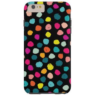Puntos felices incompletos del color funda resistente iPhone 6 plus