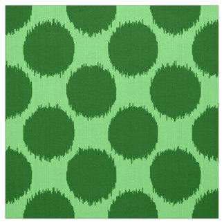 Puntos gigantes de Ikat, cal y verde esmeralda Telas