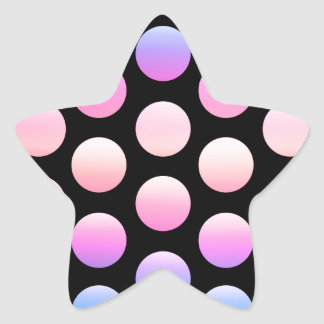 Puntos gigantes calcomania forma de estrella personalizadas