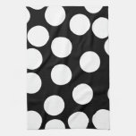 Puntos grandes en blanco y negro. toallas de cocina