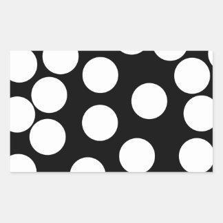 Puntos grandes en blanco y negro etiquetas