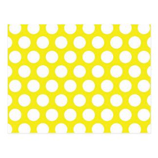Puntos grandes en diseño amarillo postal