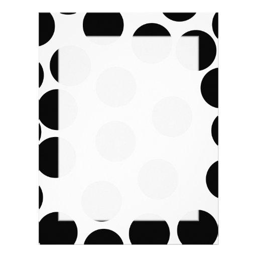 Puntos grandes. Modelo blanco y negro Plantilla De Membrete