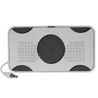 Puntos gris oscuro de la disposición al iPhone altavoz